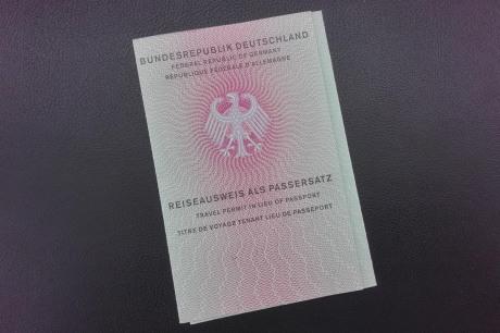 Deckblatt Reiseausweis als Passersatz
